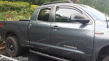 TOYOTA TUNDRA WEATHER TECH RAIN GUARDS FOR 2007-2018 DOUBLE CAB 4 PC SET 82450