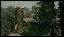 NIAGARA ON THE LAKE CANADA ST. MARK'S CHURCH 8/2/1935 COLOR POSTCARD RARE VIEW