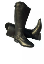 Riding Boots Wide Calf BLACK, Leather, Size 6 FREE UK POSTAGE