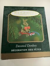 """2000 """"Devoted Donkey """" Hallmark Ornament (Nib) Miniature"""
