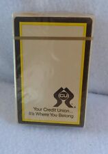 Vintage Deck of Playing Cards with W.P.&L. Credit Union Advertising