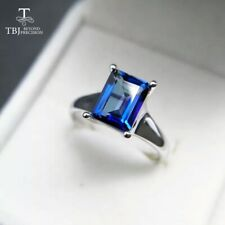 Tanzanite  Color Topaz Women's 925 Sterling Silver 3 ct Ring Gemstone Jewelry