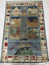 Wool Cotton Traditional Style Hand Knotted Viscouse Art Silk Carpets Rugs