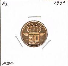Belgium / Belgique french 50 centimes 1990 BU - KM148.1