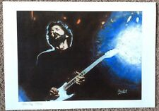Eric Clapton BLUES Signed by Artist PRINT Artwork - No Poster - Limited Edition