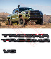 2016-2020 TOYOTA TACOMA TRD OFF ROAD BLACKOUT EMBLEM OVERLAY KIT OEM V6
