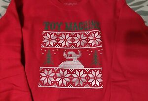 TOY MACHINE UGLY CHRISTMAS SWEATER CREW NECK MONSTER SWEAT SHIRT SIZE LARGE NEW