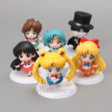 6 set Anime Sailor Moon Mercury Jupiter Venus Doll mini petit action Figure Toys