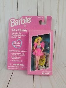 Twirling Ballerina Barbie Keychain Key Chain 1996 Basic Fun #720-0 NOS