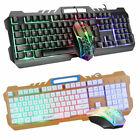 Gaming Keyboard and Mouse Mechanical RGB Led Backlit For Computer Desktop Laptop