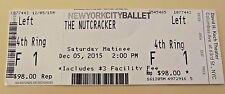 NUTCRACKER Theater BALLET Ticket LINCOLN Center NYC New York NY 2015 Matinee****