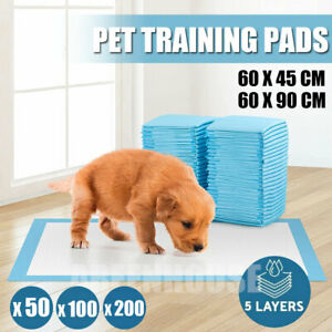 200 Large Puppy Training Trainer Train Pads Toilet Pee Wee Mats Poo Dog Pet Cat