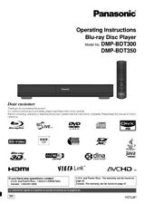 Panasonic DMP-BDT300 DMP-BDT350 Blu-ray Player Owners Instruction Manual