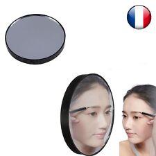 15x Femme Grossissant Miroir Rond Maquillage Poche Cosmétique Ventouse Verre NF