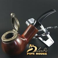 "Outstanding Mr.Balandis original Hand made smoking pipe ""KAISER 25"" smooth Brunn"