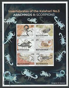 Botswana 2021 Scorpions MNH sheet