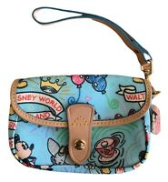 Dooney & Bourke Disneyland Disney World Wristlet with Mickey and Dumbo