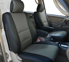 TOYOTA TUNDRA 2000-2003 BLACK/CHARCOAL S.LEATHER 2 FRONT SEAT & 2 ARMREST COVERS