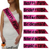 HEN PARTY SASH BRIDE TO BE BRIDESMAID MOTHER SASHES NIGHT GIRLS ACCESSORIES NBC