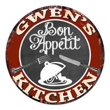 CPBK-0451 GWEN'S KITCHEN Bon Appetit Chic Tin Sign Decor Gift Ideas