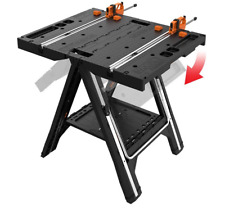 Worx Pegasus Multi-Function Work Table & Sawhorse with Quick Clamps and Holdin