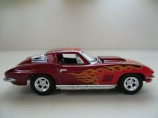 GREENLIGHT - 1967 CHEVROLET CORVETTE COUPE (FLAMES) - 1/64 DIECAST (LOOSE)