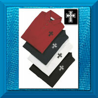 Unisex Adult POLO SHIRTS Embroidered CROSS Logo Volunteer Priest Deacon Ret: $30