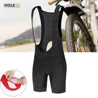Mens Cycling Bib Shorts 3D Gel Padded MTB Mountain Bike Riding Short Pants Skid