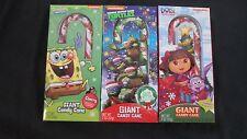(3) Giant 2 Oz Candy Canes Sponge Bob, Ninja Turtles, Dora The Explorer Easter