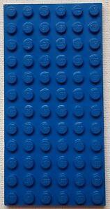 Lego  BLUE Base Plate 12 x 6 Building Baseplate