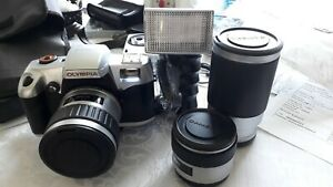 Olympia  Camera 35mm External Flash and 3 lenses New & Unused