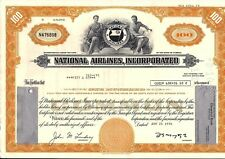 National Airlines, Inc. stock certificate 100 Shares State of Florida