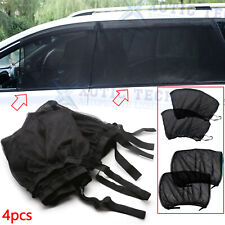 4Pcs Car Side Window UV Protection Sun Shade Cover Visor Mesh Shield Sunshades