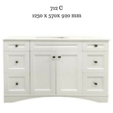 Hampton Shaker Style Bathroom Vanity Cabinet Unit 1200 mm Artificial Marble top