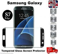 3D Curved Tempered Glass Screen Protector for Samsung Galaxy S7 EDGE - Black