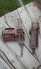 Vintage Toy Bailer Plus Metal Manure Spreader Farm Implements John Deer Case Ih