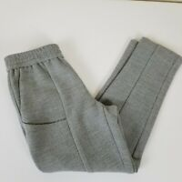 Thakoon Addition Cropped Pants Womens 0 Textured Pull On Gray Pockets
