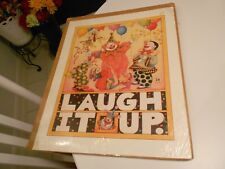 """Laugh It Up Clown Print By M.E.1983-Mary Englebreit Sealed/Wrapped-16"""" X 20"""""""