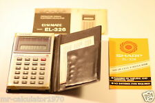 VINTAGE SHARP ELSI MATE EL-326 SOLAR & LIGHT POWERED CALCULATOR