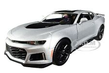 2017 CHEVROLET CAMARO ZL1 SILVER 1/24 DIECAST MODEL CAR BY MOTORMAX 79351