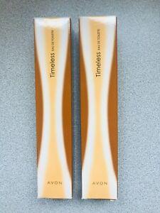 AVON 2 x 50ml Timeless EDT Ladies Perfume NEW in boxes