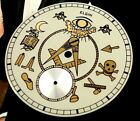 Elgin MASONIC Order DIAL 12 size works with Hunting or Open Face models  1928