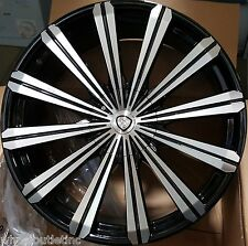 24 Wheels & Tires Black B18 Rims Silverado Tahoe Avalanche Suburban GMC Yukon 26