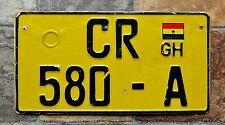 Ghana Africa Commercial License Plate