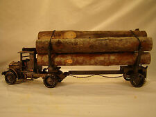 Beautiful Vintage Logging Truck - custom weathered - tin handcrafted - G 1:20.5