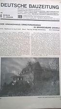 1928 6 Brandenburghavel Krankenhaus / Stadttor Monheim