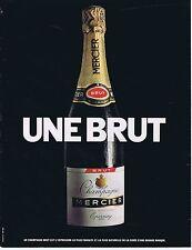 Publicité Advertising 016 1968 Mercier champagne brut
