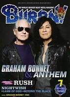 BURRN July 2020 Hard Rock Heavy Metal Magazine Japan Graham Bonnet Anthem