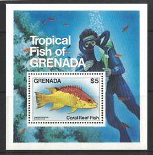 1984 Grenada Fish Sg Ms 1338 Muh