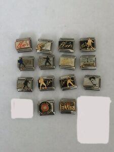 28 Elvis Presley Licensed Casa D'oro Graceland 9mm Italian Charm Charms Bracelet